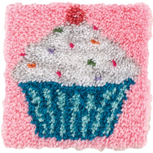 Wonderart Cupcake Latch Hook Kit, 12