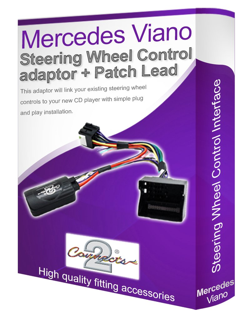 Mercedes Viano car stereo adapter Connect your Steering Wheel stalk controls