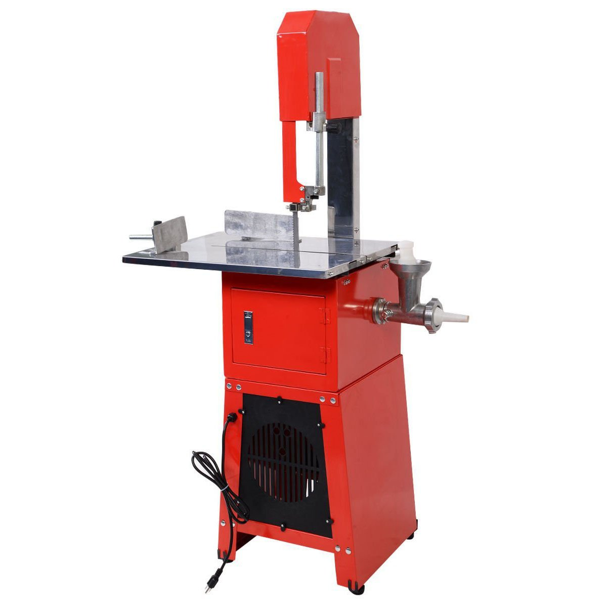 Tangkula Electric 550W Proffessional Stand Up Butcher Meat Band Saw & Grinder Processor Sausage (Red) by Tangkula