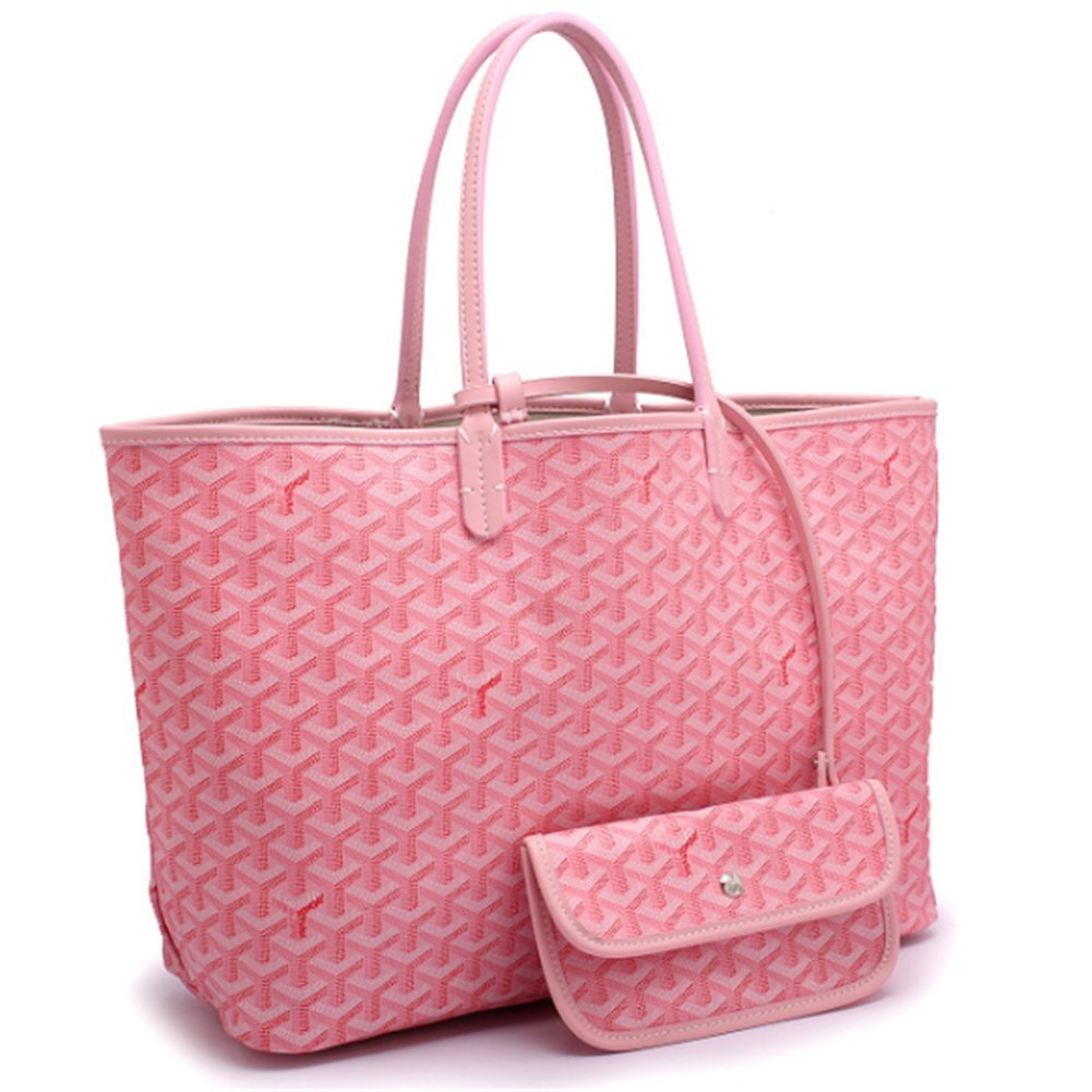 Agote Women Fashion Shipping Shoulder Tote Bag Set (PINK.)