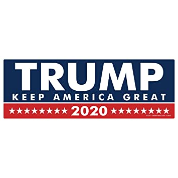 Trump 2020 keep america great sticker fs603 laminated political bumper car truck