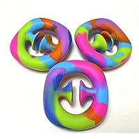 SuperPower 3pcs set Push pop pop it Rainbow Color Snapperz Fidget Toy X Sensory Popper Silicone Hand Grip Toy Stress…
