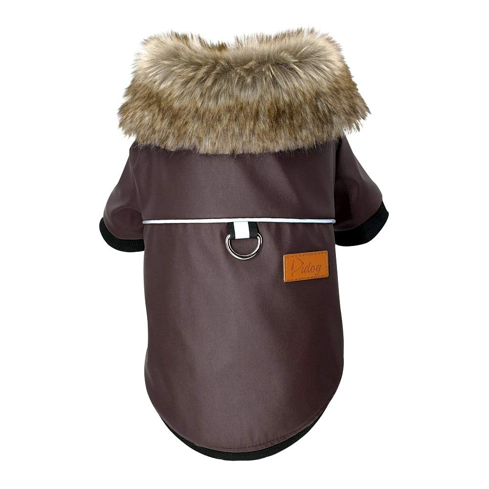 Brown S Brown S Olwen Shop Dog Coats & Jackets Waterproof Dog Clothes Leather Coat Winter Dog Jacket Coat for Small Dogs Pets Pug French Bulldog Schnauzer Roupa cachorro 1 PCs