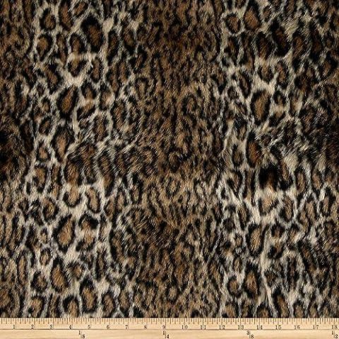 Faux Fur Ocelot Brown/Black Fabric By The Yard - Ocelot Faux Fur