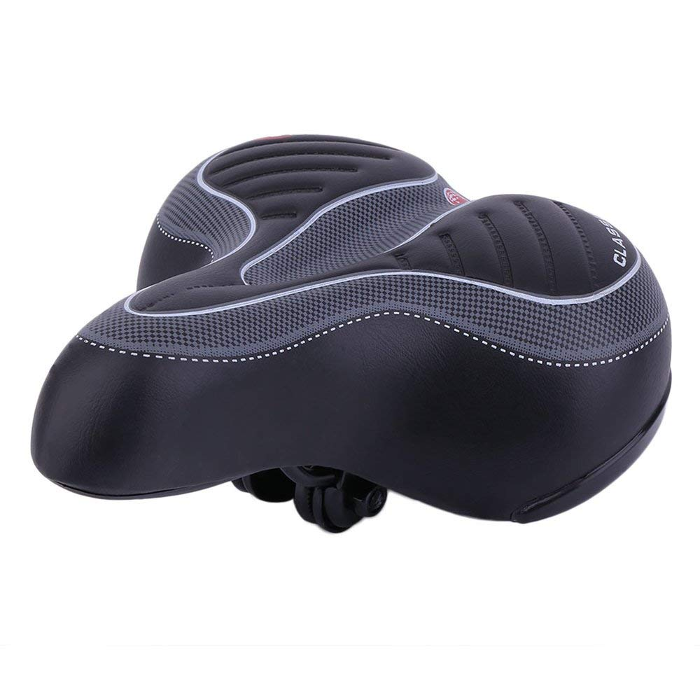 WIDE EXTRA COMFY BIKE BICYCLE GEL CRUISER COMFORT SPORTY SOFT PAD SADDLE SEAT