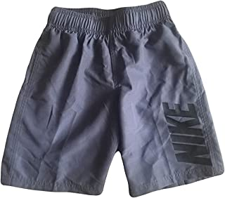 Nike Boys Swim Shorts Board Shorts Trunks (Grey, 4)