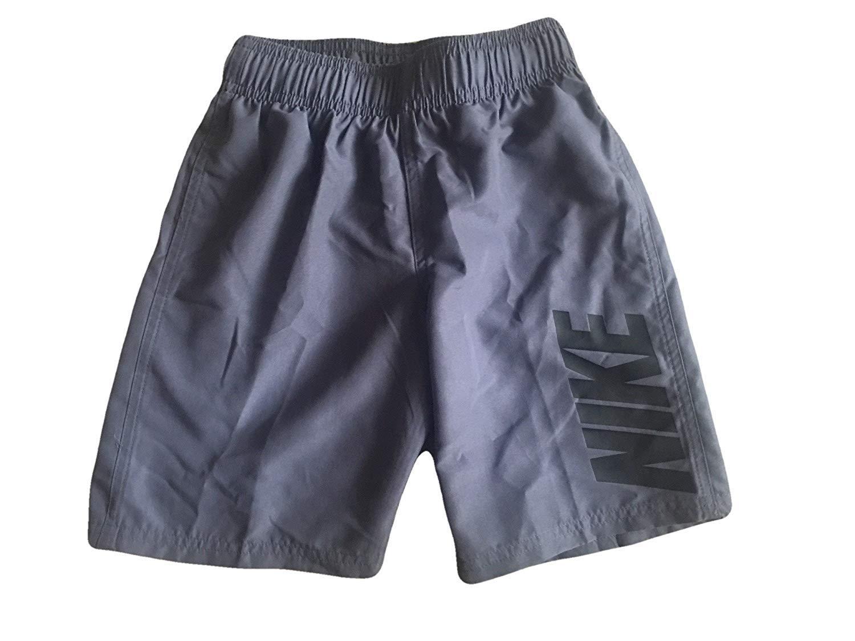 Nike Boys Swim Shorts Board Shorts Trunks (Grey, 7)