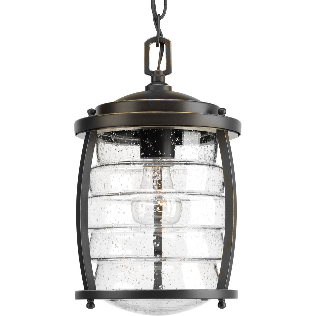 Progress Lighting P5521-108 Traditional/Casual 1-100W Med Hanging Lantern, Oil Rubbed Bronze
