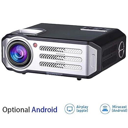 MNJR Proyector Proyector HD LED, Bluetooth WiFi 3500 lúmenes 1080P ...