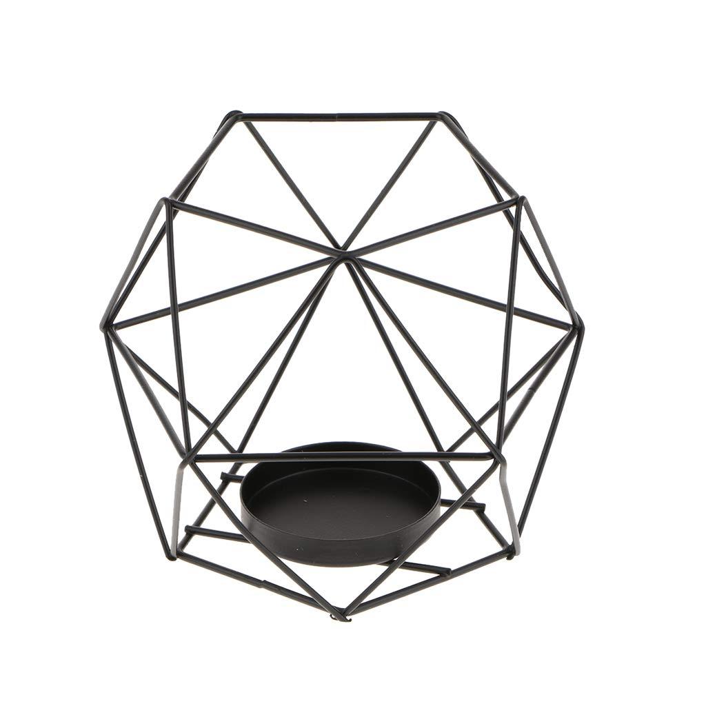 Nero Homyl Candelabro Candeliere Geometrico Disegno Porta Candela Lumini Abbellimenti Accessori per Casa Cucina