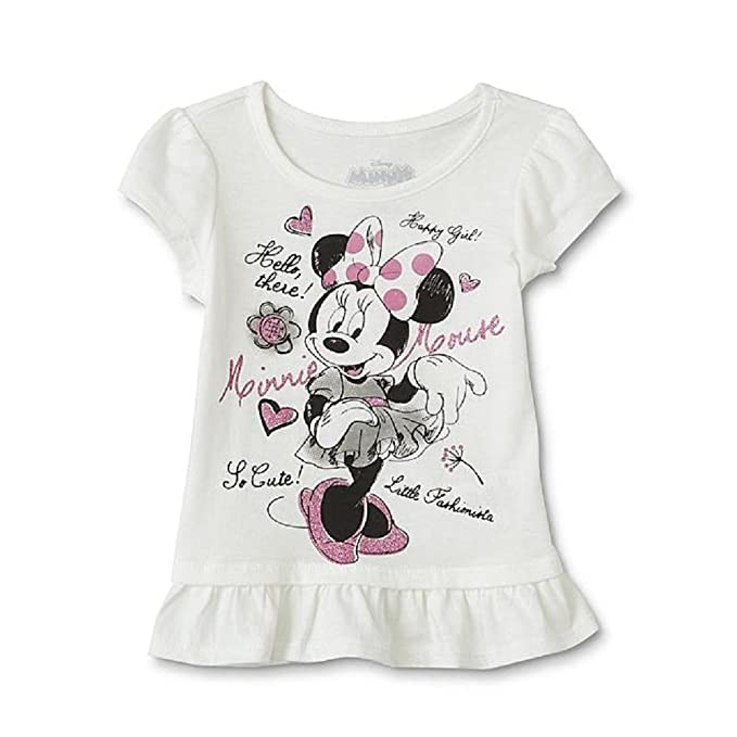 bc691c9ff25 Image Unavailable. Image not available for. Color  Toddler Girls  Ruffle Tee -Shirt - Minnie Mouse ...
