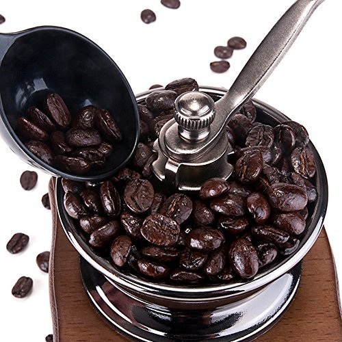 Manual Wooden Coffee Mill Grinder Vintage Style Coffee Bean Grinder with Drawer