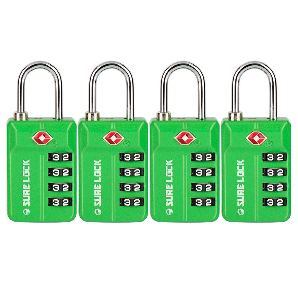 SURE LOCK TSA Compatible Travel Luggage Locks, Open Alert Indicator, Easy Read Dials?