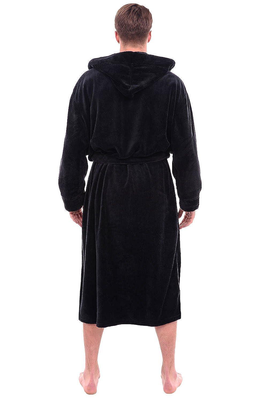 e67efd9772 Alexander Del Rossa Mens Fleece Solid Colored Robe