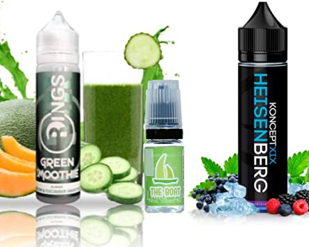E Liquid Rings Green Smoothie 50ml - 70vg 30pg + E Liquid Vampire Vape Heisenberg 50ml - 80vg