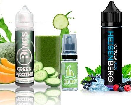 E Liquid Rings Green Smoothie 50ml - 70vg 30pg + E Liquid Vampire Vape Heisenberg 50ml - 80vg