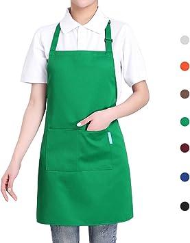 Zarupeng Unisex Einfarbig-Sch/ürzen-Kochsch/ürze-Restaurant-Sch/ürzen mit Tasche One Size, Orange