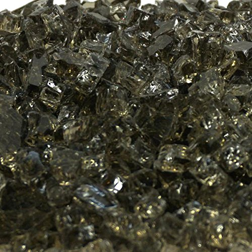 1/4'' Chestnut Bronze Fireglass 10 Pound Bag