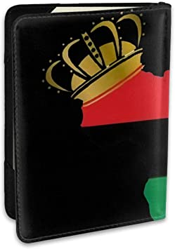 Science Fashion Leather Passport Holder Cover Case Travel Wallet 6.5 In