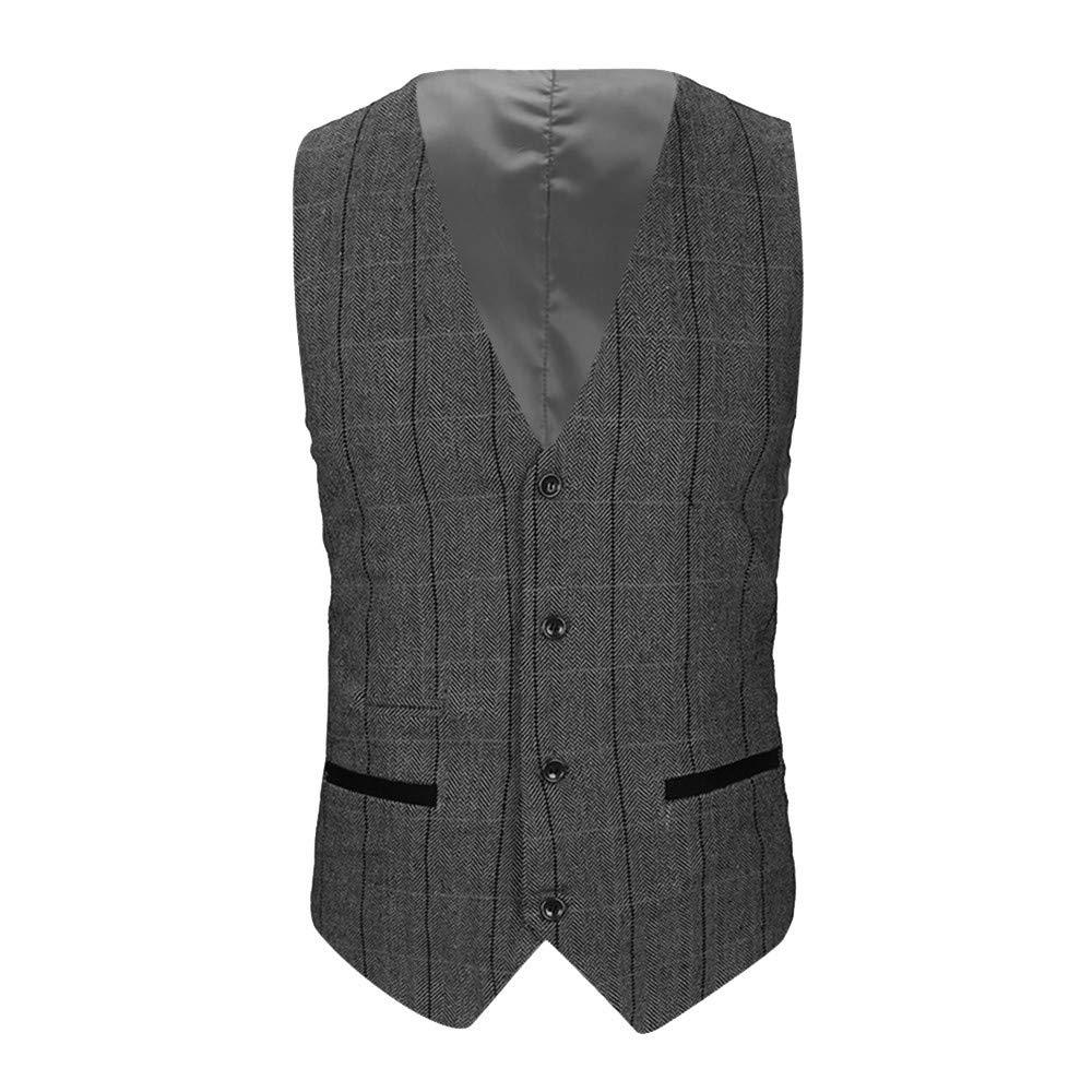 Men Blouse, Dartphew -2018 Vest-Mens Casual Pocket Droit Waistcoat Top Coat at Amazon Mens Clothing store:
