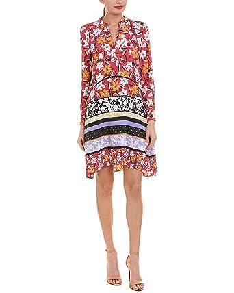 2de49ffd44aa Taylor Dresses Women's Long Sleeve Mixed Floral Print Shirt Dress at ...