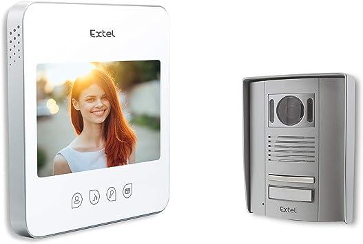 Extel 720294 Videoportero Quattro, 1W, Blanco: Amazon.es ...