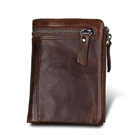 Wuxingqing-Bag Billetera De Cuero para Hombres Short de ...