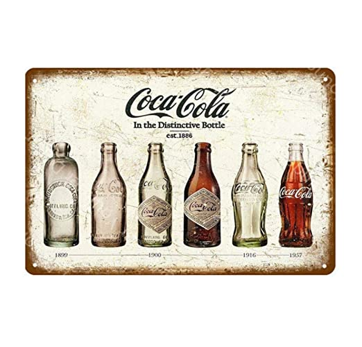 LHCY Carteles De Chapa De Metal Bebidas Heladas Decoración ...