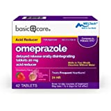 Amazon Basic Care Omeprazole Delayed Release Orally Disintegrating Tablets, 20 mg, Acid Reducer, Strawberry Flavor, 42…