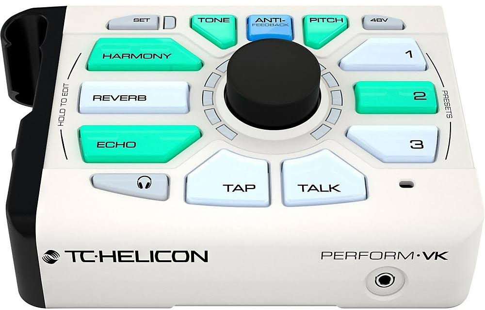 TC Helicon 996367005 Perform-VK Vocal Effects Unit w/ Cloth, 2 Instrument Cables, and XLR Cable by TC-Helicon (Image #2)