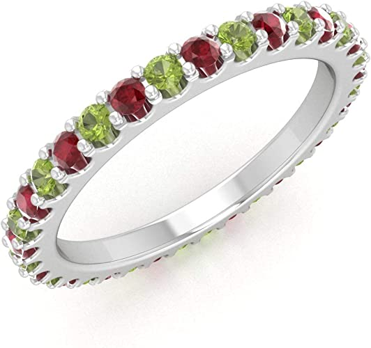 Natural Ruby Wedding Ring Yellow Gold Plated 925 Silver Handmade Band US 4 to 15