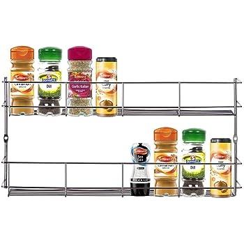 Amazon Com Yontree 2 Tiers Steel Spice Rack Herb Jar