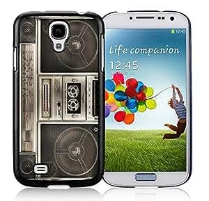 Graceful Samsung Galaxy S4 Case Elegant Classic Boombox Soft TPU Silicone Black Phone Covers
