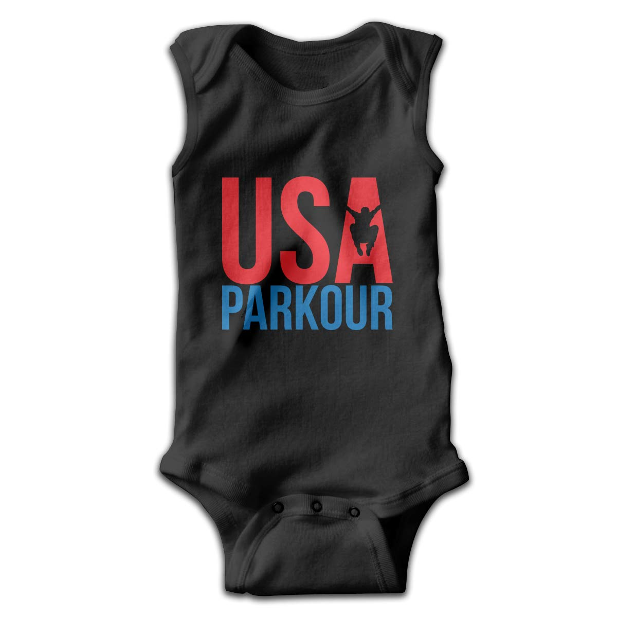 Efbj Toddler Baby Boys Rompers Sleeveless Cotton Jumpsuit,USA Parkour Bodysuit Autumn Pajamas