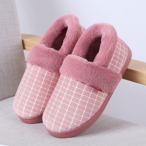 Inverno fankou giovane home lana La lana caldo cotone pantofole una coppia di HL-3378,38 / 39 (per 37/38 cantieri di usura), profondo rosso