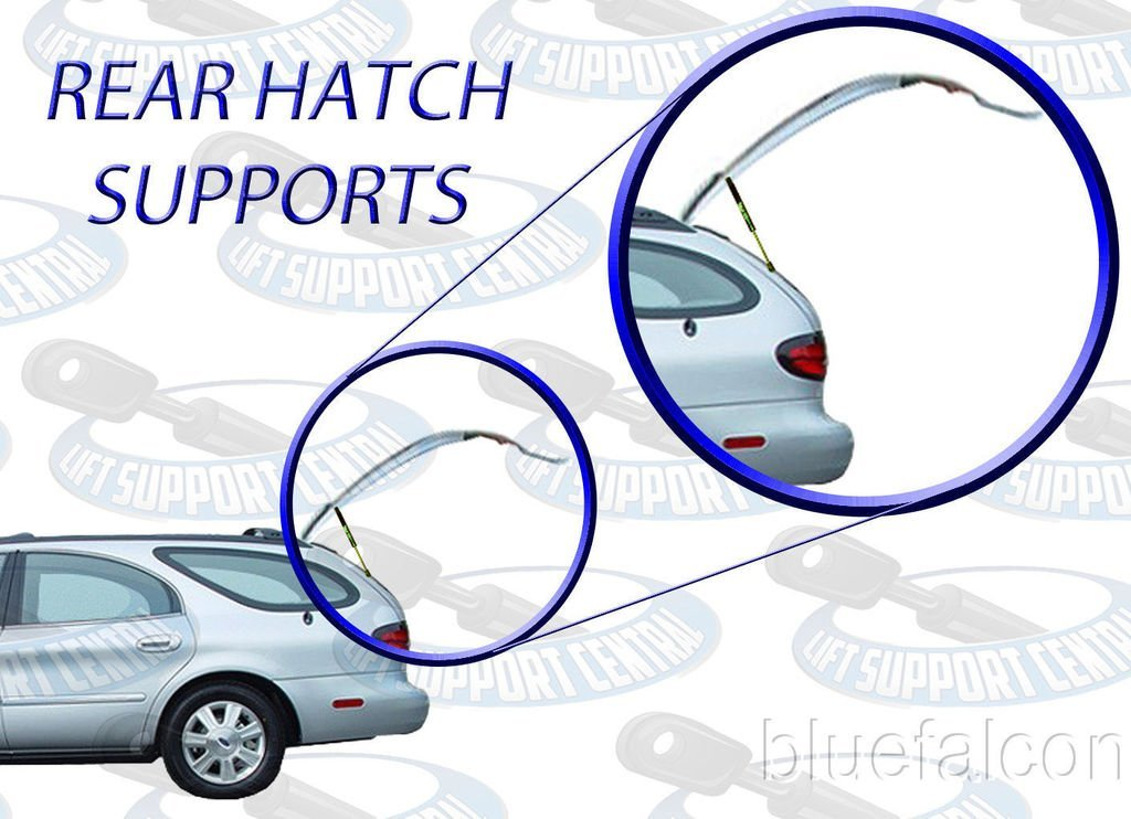 Two Rear Hatch Gas Charged Lift Supports for 1998-2001 Subaru Impreza Wagons WGS-518-2 Left and Right Side