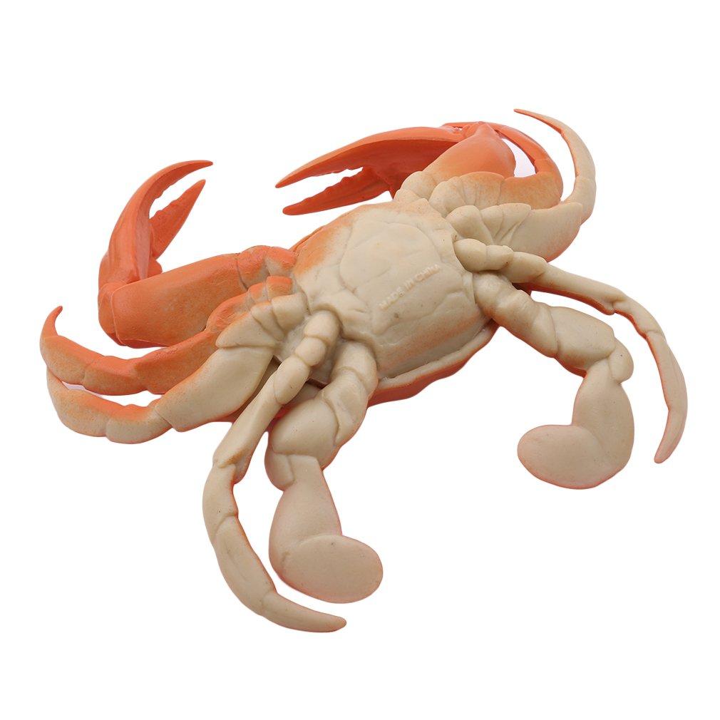 Crabe Orange Pinhan Lobster Crab Mod/èle en Plastique Jouet Simulation Simulation Sonnant Homard Jouets Amusants Halloween April Fools Day Jouets /Éducatifs Tricky