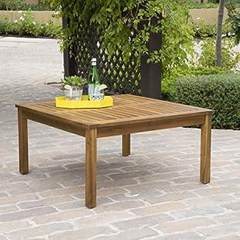 Natural Modway EEI-2699-NAT Bayport Outdoor Patio Teak Coffee Table