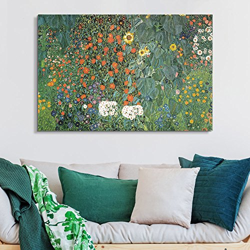 Sunflowers with Various Flowers by Gustav Klimt