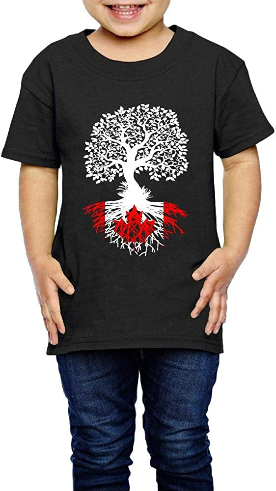 Kcloer24 Kids Canadian Roots Cute T-Shirt Short Sleeve Tee for 2-6 Years Old