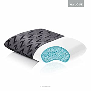 MALOUFZ Shredded Gel-Infused Memory Foam Pillow with Soft Rayon from Bamboo Cover - Travel Size, White