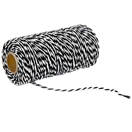Navy Blue and White G2PLUS 328 Feet Craft Bakers Twine Garden Thread Durable Tags Tie Labels String Spool for DIY Crafts and Handmade Arts