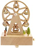 JustNile Delightful Wooden Musical Box- Ferris Wheel With Square Base