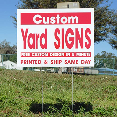 Custom Color Flutes (Yard Signs 10 Custom with H Stakes - 1 Color 2 Sided)