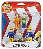 Fireman Sam 5 Pack Action Figure Character Set Ages 3+