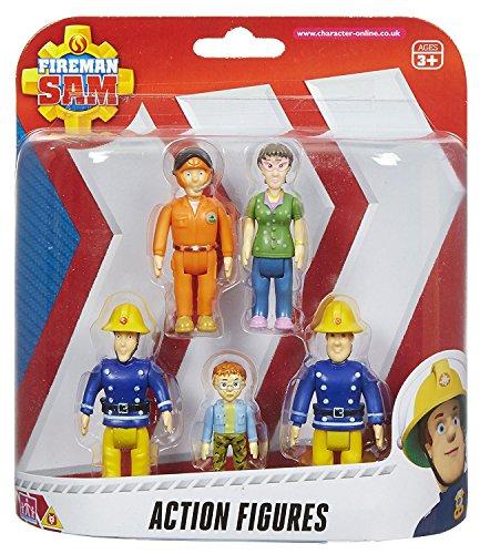 Fireman Sam 5 Pack Action Figure Character Set
