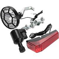 Tomshin Kit de luzes de bicicleta para bicicleta farol dianteiro de segurança farol traseiro farol Dínamo