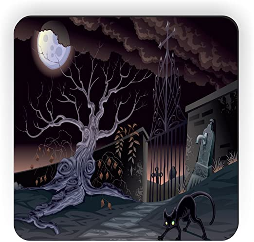 6 x 6 Rikki Knight Black Cat Halloween Design Ceramic Art Tile