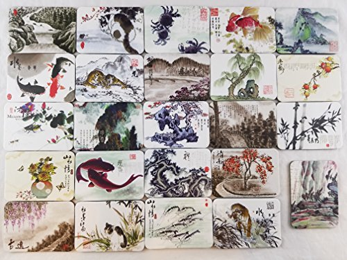 Ninja souvenirs Chinese writing brush style fridge magnets refrigerator magnet design decorations art decor items pattern souvenirs set of 24