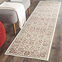 Safavieh Sevilla Collection SEV813B Ivory and Multi Silky Viscose Distressed Runner (21 x 8)